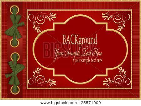 Vector rojo con el álbum del patrón oro para tus fotos