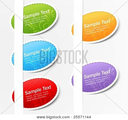 vector set of colored stickers