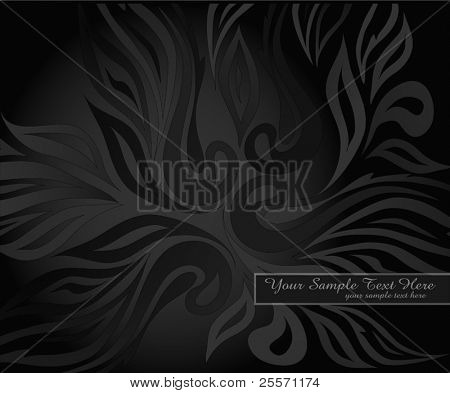 vector abstract background with black pattern