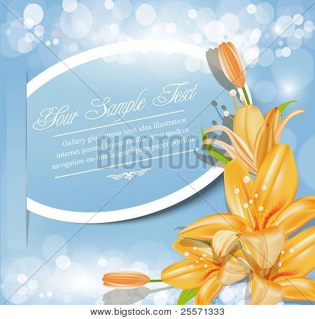 holiday abstract vector background with  flowers