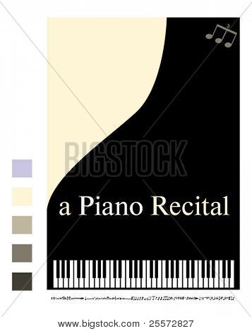 Poster for a piano recital
