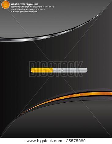 Technology  Black background.Vector