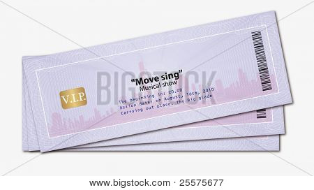 Ticket with watermarks. Vector