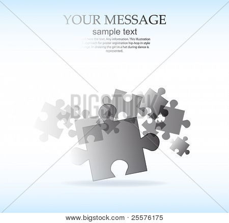 abstract puzzle shape vector design