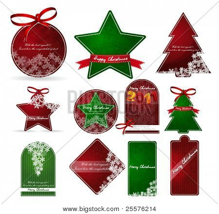christmas price tags. vector