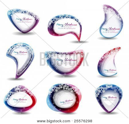 christmas circle for speech. vector eps10