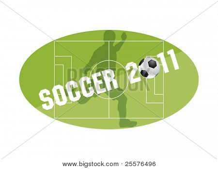 Sports training soccer 2011 . Vector
