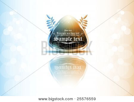 3d business logo with heraldry. vector