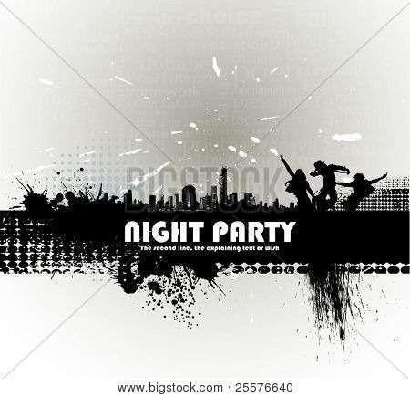 Party peoples, audience cheering success vector background