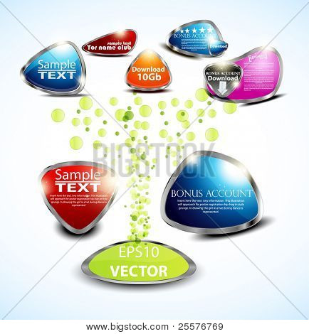 set glossy volume download button icon. Vector design