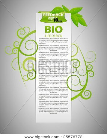 Bio conceito design eco friendly