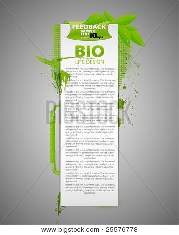 Bio abstrato design eco