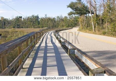 Recycled Highway Walkway