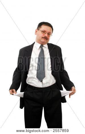 Man Turning His Empty Pockets Inside