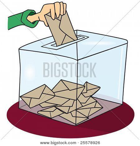 votación. Una urna