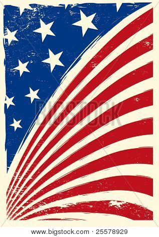US-amerikanischen Grunge-flag