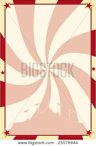 Poster circus vortex. A circus background for your advertising