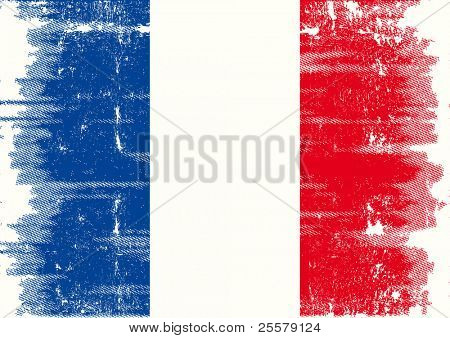 French grunge flag A french flag with a texture