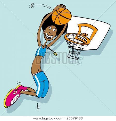 basketball player Cartoon of a basket ball player