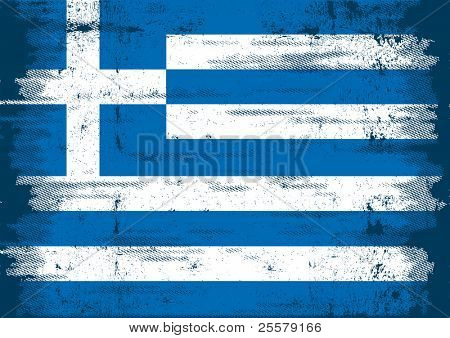 Greek grunge Flag. An old flag of Greece whith a texture
