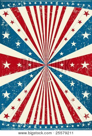grunge patriotic poster. A old scratched poster with a texture