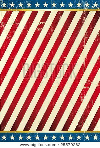 Flagge von Amerika. Dirty Hintergrund auf US theme
