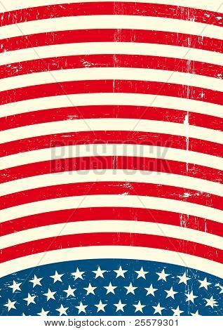 US textured Flag A patriotic background for a poster
