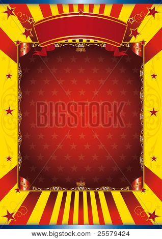 Happy poster circus Poster with a large copy space for your advertising