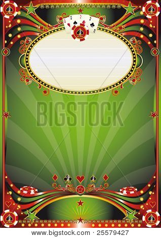 Baroque casino background. A poster for a casino party.