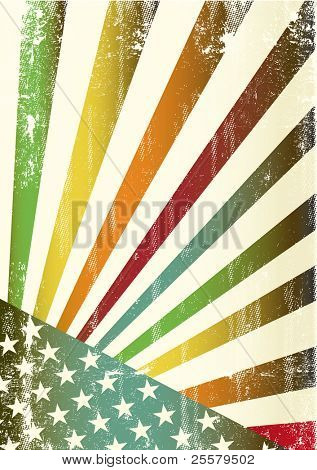 Multicolor grunge american flag. A new multicolor american background for a poster
