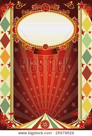 circus vintage rhombus poster. A new circus poster for your show !!!