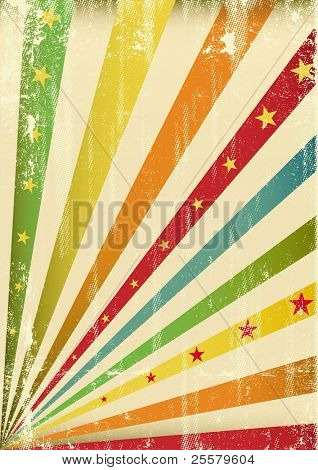 Multicolor cool scratched leaflet. An abstract background for a poster.
