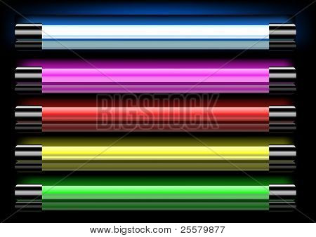 Colorful neon lamps