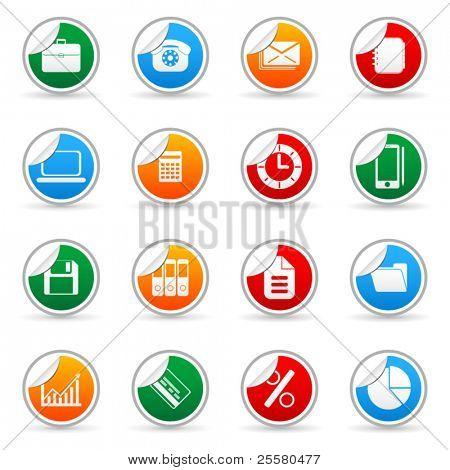 Vektor Medien Aufkleber Symbol für Web-Anwendungen (Set 4)