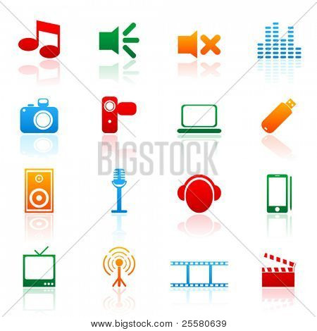 Colored vector icon (set 1)