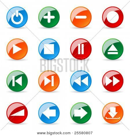 Colored and glossy vector icon (Set 11)