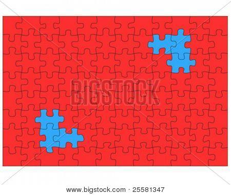 puzzle pattern, vector illustration