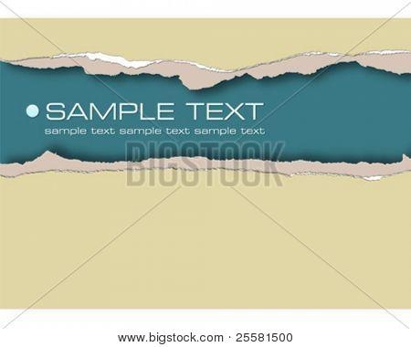 Riss Papier, Vektor-illustration