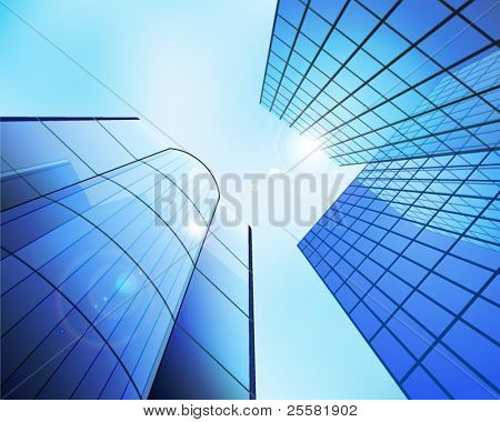 Business center. Vector illustration.
