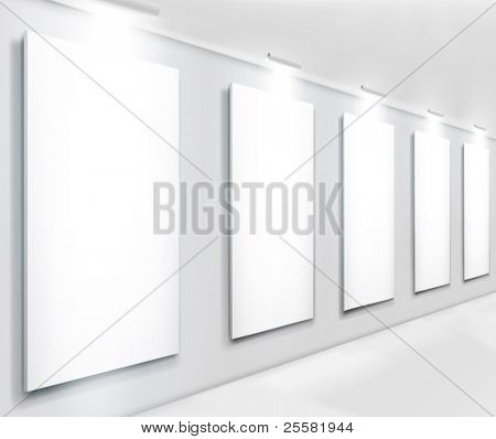 Display in gallery. Vector illustration.