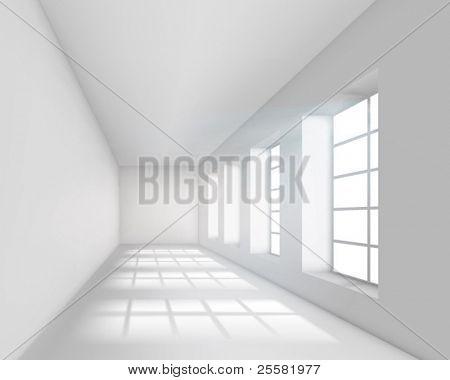 Vacío interior en blanco. Ilustración del vector.