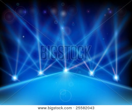 Laser effect of Stage. Vector illustration.