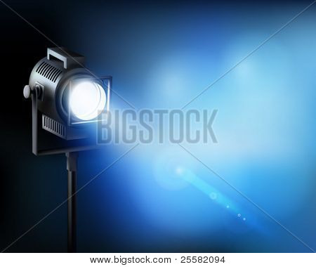 Spotlight. Vector illustration.
