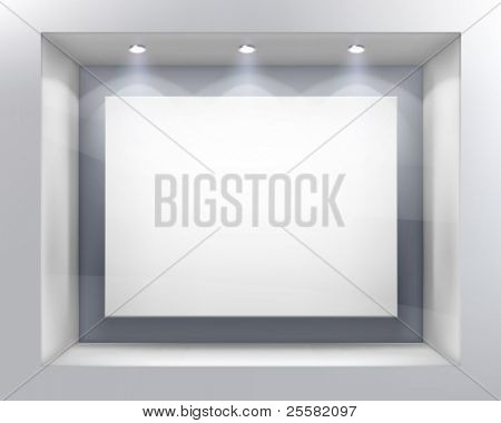 Shop window. Vector illustration.