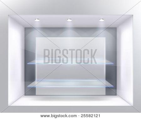 Show-window of shop. Vector illustration.