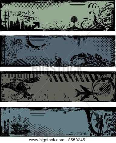 Grunge headers, banners