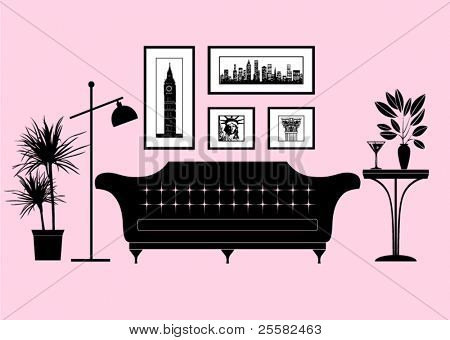 City living - part of a modern living room