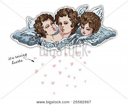 St. Valentine's Day Greeting - Cherubs