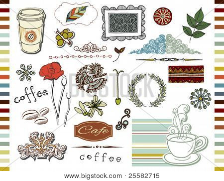 Doodle elements, Coffee