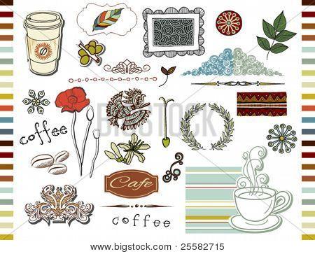 Doodle elements, Coffee